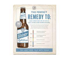 Shiner light ad #beer #ad