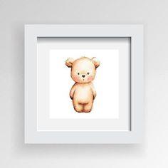 Framed Artwork 'Standing Bear' 30cm x 30cm