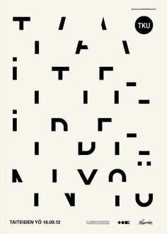 TTY_12 | Flickr - Photo Sharing! #type #typograhpy #treatment #poster