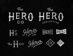 Hero Collective #type #hand drawn