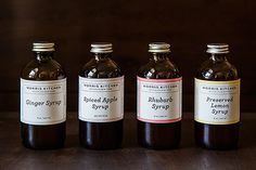 Your pantry is waiting for these syrups from Morris Kitchen. #packaging