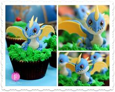 Cupcake Decorations of DreamWorks Characters #characters design #cupcake art