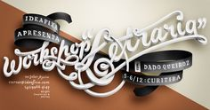 dado queiroz : illustration + graphic, lettering and type design #handlettering #queiroz #workshop #spanish #dado #brazil