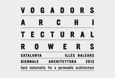 Vogadors Architectural Rowers, Héctor Sos Gargallo #typograhy #architecture