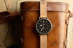 Piccsy :: Le Petit Français #clock #leather
