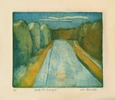 Route 95 Georgia (1977), 3 color, 3 plate etching #youth #tree #lee #sonic #road #painting #ranaldo