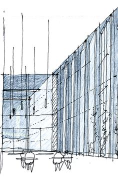 11 azero_landini_Bolzano 650 #design #art #architecture #contemporary #pencil #drawing #pen #project #view #museun