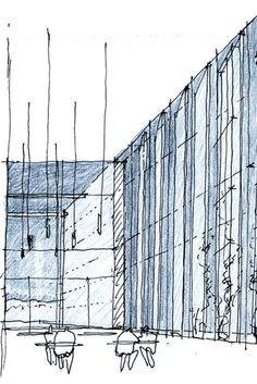 11 azero_landini_Bolzano 650 #project #view #design #drawing #contemporary #architecture #art #pen #pencil #museun
