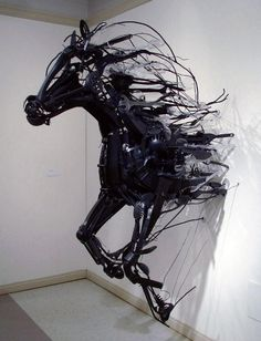 Horse Installation Art from Discarded Plastic
