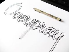 Overspray, Hand drawn #micro #lettering #overspray #typography