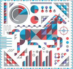 geometric illustration horse