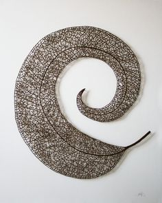 Meredith Woolnough's Embroideries Mimic Delicate Forms of Nature nature embroidery #sculpture #leaf #spiral #design #embroidery #nature #delicate #art