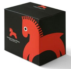 Cavalierino Box Extra Large #horse #packaging #box #wine #illustration
