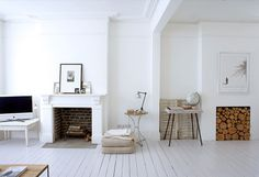 Alabaster House. Photo credit: http://www.1st option.net #white #fireplace