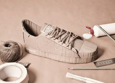 Adidas Originals with Cardboard – Fubiz™ #adidas #cardboard #originals #sneakers #art #paper