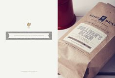 King Bean Coffee Roasters — Stitch Design Co. #typography #logo #branding #packaging #coffee #king #stitch design co