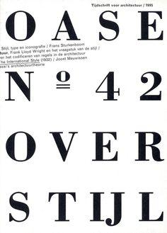 Tijdschrift voor architectuur/1995 #typography #layout