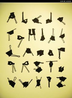 'Bulldog Clip Typeface' by Dave Wood #typography
