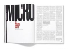 Elephant Magazine: Issue 3 « Studio8 Design #bold #minimal #publication #typography