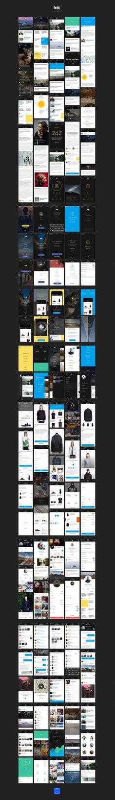 Ink UI Kit – 120+ iOS screens