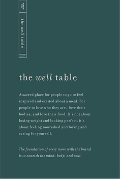 Logo design & branding for The Well Table, a holistic lifestyle and massage therapy business.