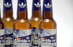 Adidas beer bottle event branding www.lucasjubb.co.uk