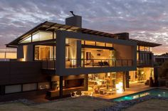 Encouraging Outdoor Living: Exquisite House Duk in South Africa #architecture