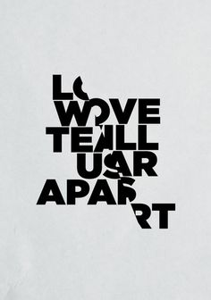 LOVE WILL TEAR US APART Art Print by Three of the Possessed #poster #typography art #print