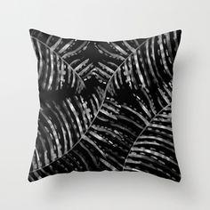 night #interior #pattern #white #black #handmade #samambaia #and #leaves