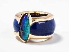 Philippe Pfeiffer Opal-Lapis-Ring
