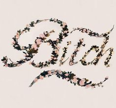 Flowers Type by Antonio Rodriguez Jr #tipografia #flowers #typography