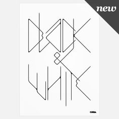 Cursa — Black & White (Print) #white #print #black #cursa #poster #and #type #typography