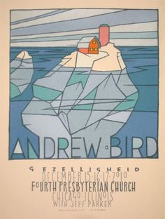 GigPosters.com - Andrew Bird - Jeff Parker #ryan #gig #print #bird #screen #illustration #jay #poster #andrew