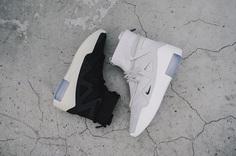 Nike Air Fear of God 1 Sneakers Closer Look Jerry Lorenzo Shoes Trainers Kicks Footwear Cop Purchase Buy Release Date Details Soon