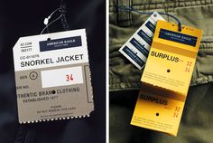 surplus hang tags