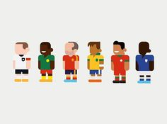 TwentyTwentyTwo - Collaboration with Hey for World Cup 2014 #character #icon #player #human #soccer #worldcup #football