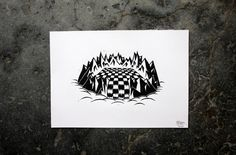 Chess #white #birken #print #design #graphic #birkenstock #black #thierry #illustration #linocut #handmade #poster #and #drawing #sketch