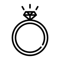 See more icon inspiration related to ring, diamond, jewel, fashion, wedding, jewelry, wedding ring, engagement, diamond ring, rings, engagement ring, luxury, love and romance, valentines day and wedding rings on Flaticon.