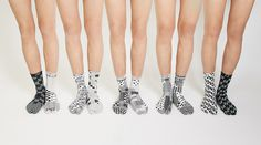 SUPERMAMA x A Design Film Festival 2015 Tabi Socks, Anonymous #graphic #pattern #geometric #socks