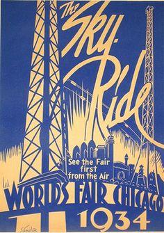 #vintage #worldsfair #1930s #1934 #poster #lettering