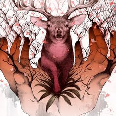 EK Interview: Yuta Onoda | EMPTY KINGDOM You are Here, We are Everywhere #draw #illustration #deer #hands