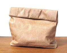Picnic Bag in Tan Leather By Marie Turnor #picnic bag #marie turnor