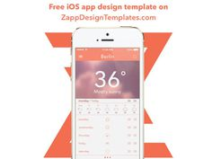 Free Weather App UI PSD for Designer