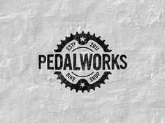 Dribbble Pedalworks Logo by Graham Smith #badge
