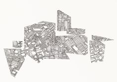 Geometric Cityscape #urban #geometry #perspective #city #design #shapes #jacob #gilbert #drawing #buildings