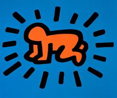 #radiantbaby #keithharing #blue #orange