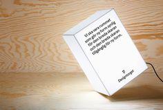 Designtorget by Kurppa Hosk #typography #design #lamp