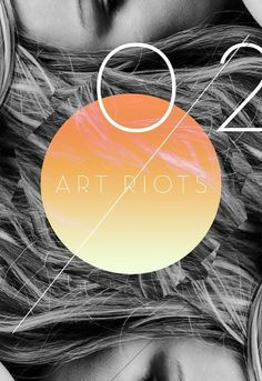 ART RIOTS // LET IT RIOT OUT on the Behance Network #riots #hair #concept #shape #blonde #art #new