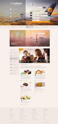 Lufthansa - Concept on Behance #site #air #web