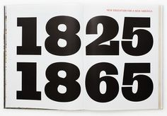 New Work: MICA History Book | New at Pentagram | Pentagram #numbers #pentagram #books #typography